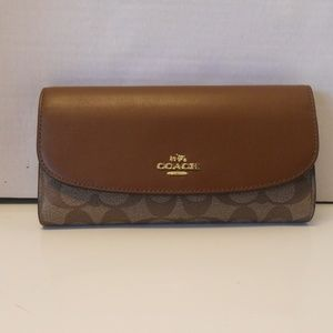 NWT Coach Signature PVC Leather Wallet F57319